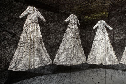 After the Dream, Chiharu Shiota, 2011. Photo: Birmingham Museums & Art Gallery